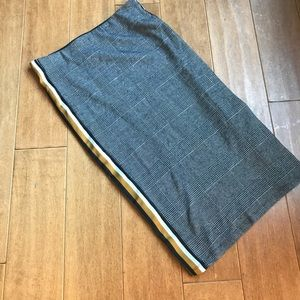 Zara Glen Plaid Side Stripe Knit Skirt